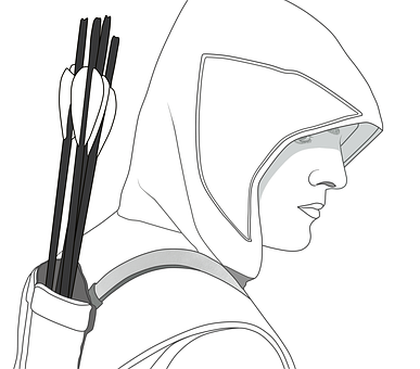 Line Art, Oliver Queen, The Hood, Sketch, Green Arrow