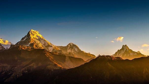 Annapurna, Fishtail, Hiunchuli, Nature, Himalayas