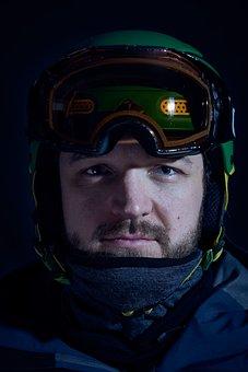 Skiers, Portrait, Man, Human, Ski Helmet, Alpine