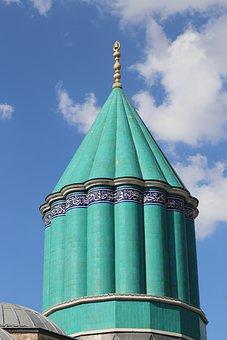 Mevlana, Konya, Cami, Museum, Turkey, Islam, Dome
