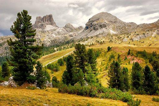 Monte Averau, Mountains, Mountain Group, Italy