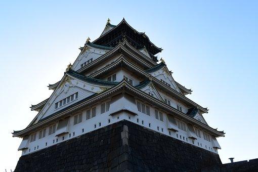 Osaka Castle, Osaka, Japan, Japanese Castle