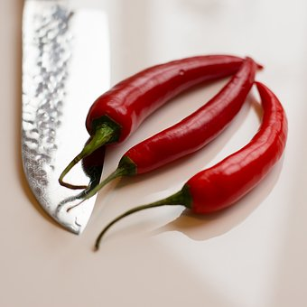 Knife, Peppers, Chillies