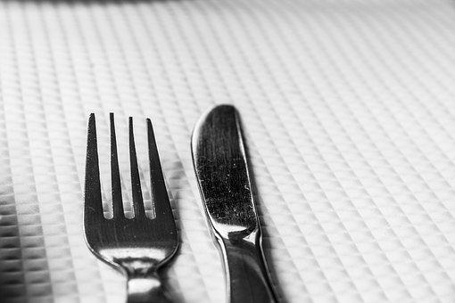 Cutlery, Fork, Knife, Table