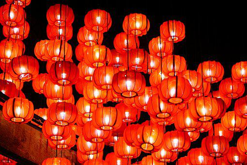 Chinese, Chinese New Year, Lantern, Red, Asian, Lamps