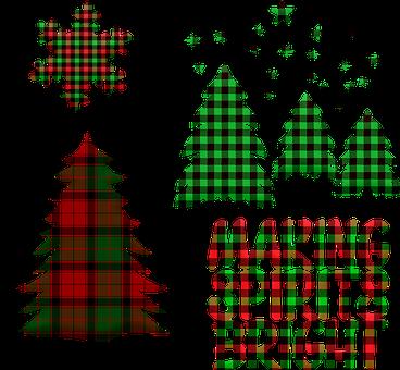 Buffalo Plaid Trees, Lumberjack Pattern, Snowflake
