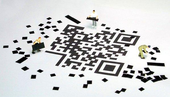 Qr Code, Barcode, Miniature Figures, Data Storage