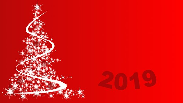 Party, New Year, Christmas Tree, 2019, Year