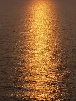 Sunrise, Shine, Orange, Morning, Light
