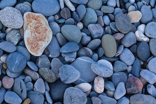 Stones, Stone, Nature, Blue, Pebble, Beach