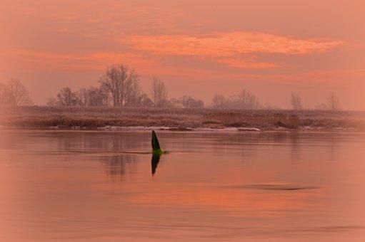 River, River Landscape, Haze, Landscape, Nature