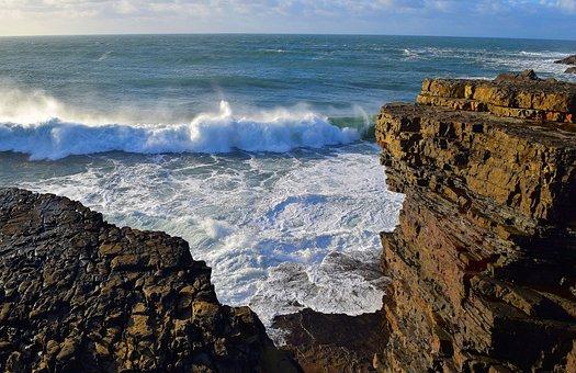 Sea, Nature, Ireland, West Coast, Wave, Rock