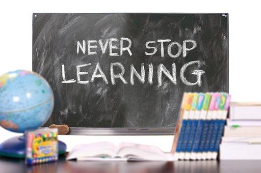 Learn, School, Board, Desk, Student Desk, Globe, Books