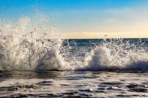 Wave, Crashing, Water, Sea, Splash, Nature, Power, Foam