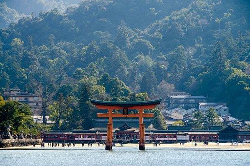 O-torii Gate, Itsukushima Shrine, Shrine, Miyajima