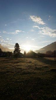 Alpine, Sun, Morning, Sunrise, Sky, Landscape