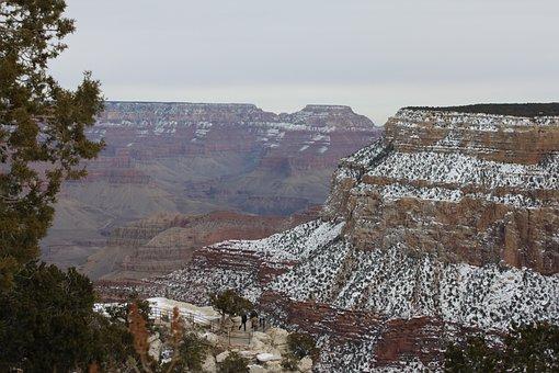 Grandcanyon, Arizona, Sonoran, Desert, Snow, Nature