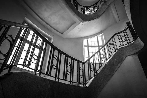 Staircase, Old, Stairs, Building, Architecture, Railing