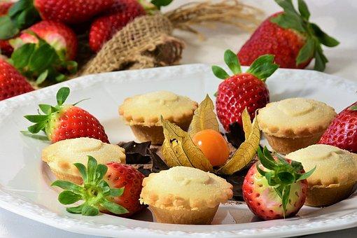 Cake, Tart, Dessert, Strawberries, Fruits, Red