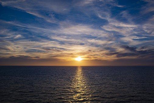 Sunset, Himmel, Sky, Reflection, Clouds, Cloud