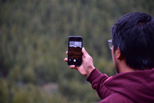 Boy, Cellular, Taking Photo, Smartphone, Camera