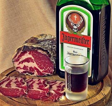 Food, Cappicola, Tasty, Jägermeister, Bottle, Odor