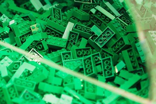 Lego Blocks, Lego, Green, Toys, Play, Children