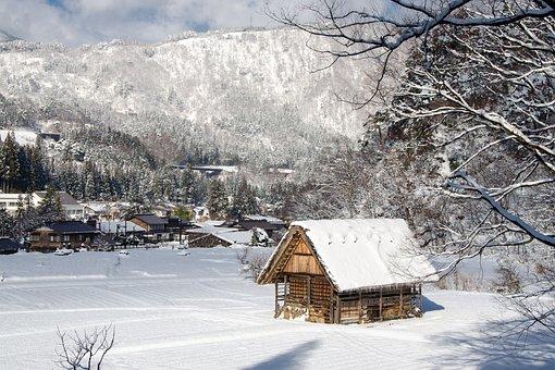 Traditional, Shirakawa-go, Gifu, Old, House, Village