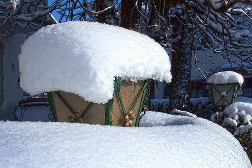 Winter, Snow, Cold, Snowed In, Lantern