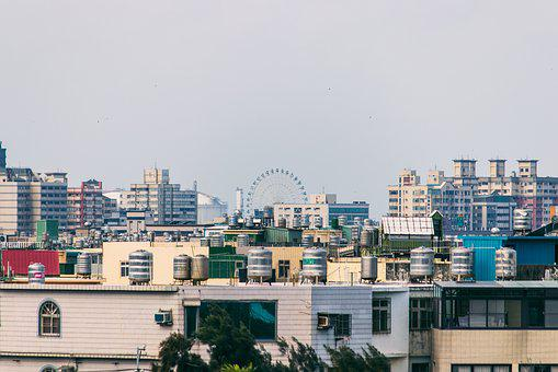 Towns, Ferris Wheel, House, Tower, Dichotomy