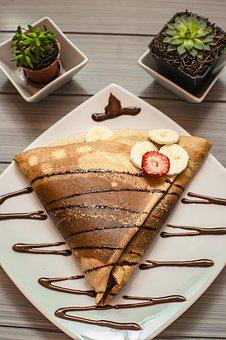 Hot, Dish, Sweet, Crepe, Dessert, Eat, Delicious