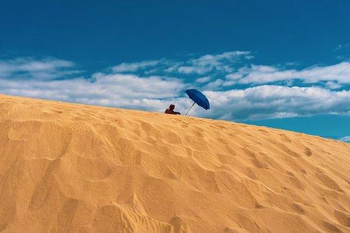 Sand, Dune, Landscape, Desert, Hot, Nature, Dry, Beach