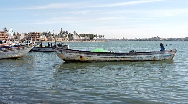 Senegal, St-louis, River, Boat, Fishing, Browse, Old