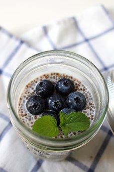 Chia, Chia Seeds, Fresh, Breakfast, Eat, Raw, Nutrition