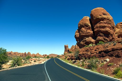 Arches Main Road, Sandstone, Utah, Landscape, Geology
