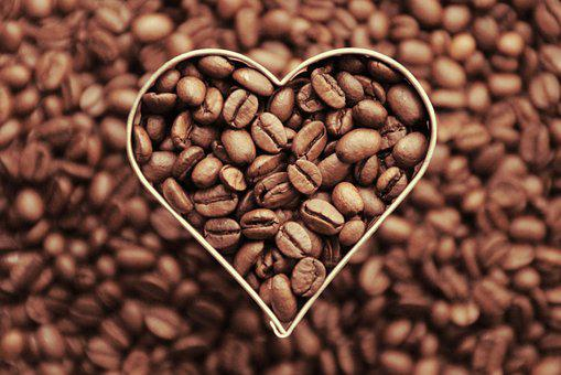 Coffee, Coffee Beans, Heart, Love, Aroma, Beans, Cafe