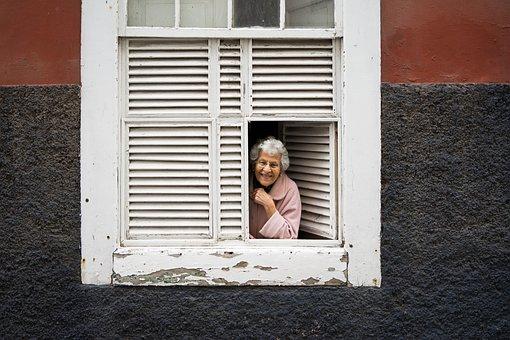Lady, Window, Woman, Portrait, Old, Architecture