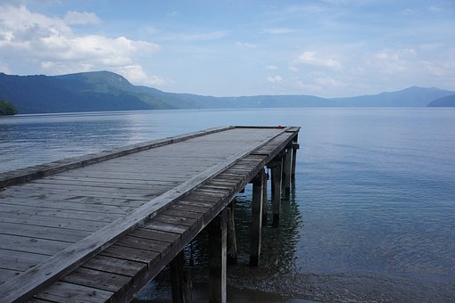 Lake, Pier, Water, Natural, Landscape, Sky, Cloud