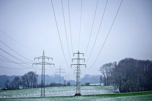 Landscape, Power Poles, Energy, Current, Power Supply