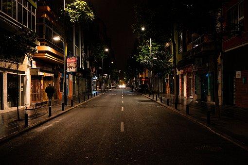 Road, Night, City, Urban, Lighting, Architecture, Dark