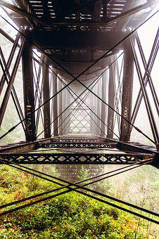 Metal, Bridge, Architecture, Steel, Construction