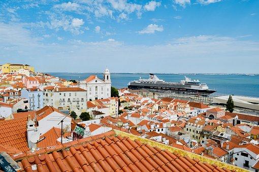 Lisbon, Portugal, Landscape, Town, City, Panorama