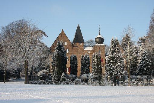 Winter, Snow, Park, Garden, Niederkrüchten, Elmpt