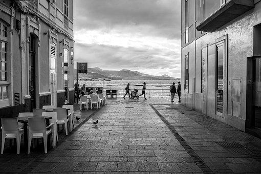 Alley, Sea, Promenade, Beach, Sky, Vacations, Personal