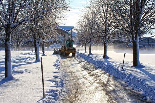 Road, Avenue, Detection, Winter, Snow, Settlement