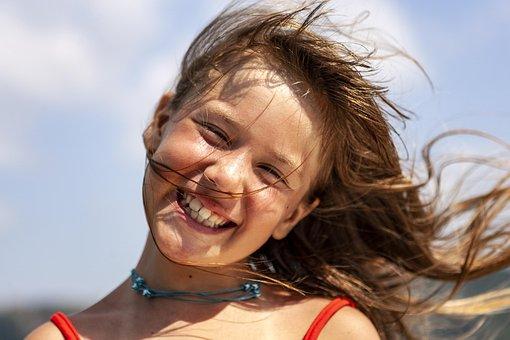 Young, Girl, Female, Happy, Summer, Sunburnt, Blonde