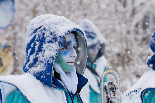 Music, Switzerland, Snow, Carnival, Canton Of Glarus