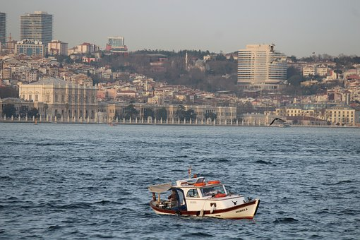 Boat, Fisherman, Throat, Istanbul, Nature, Sky