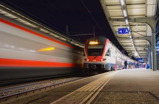 Train, Station, Wharf, Transport, Travel, Commuting
