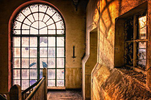 Window, Arch, Architecture, Staircase, Ground